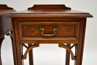 Pair of Antique Chippendale Style Mahogany Bedside Tables (8 of 12)