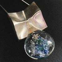 Lapponia Sterling Silver & Acrylic Pendant / Necklace by Bjorn Weckstrom (3 of 4)