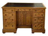 Quilted Birch Kneehole Desk (3 of 8)