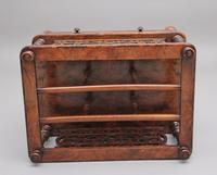 19th Century Burr Walnut Canterbury of Nice Proportions (7 of 10)