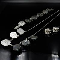 Art Deco Blue Porcelain Scarab Beetle Silver Full Set Suite - Necklace Earrings Bracelet (8 of 10)