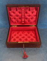 19th Century  French Burr Cedar Jewellery Box (8 of 11)