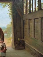 'Sunday Morning' An Enchanting Original 19thc Portrait Oil Painting' (11 of 14)