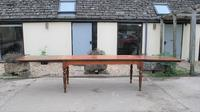 Large Extending Cherrywood Farmhouse Table (2 of 12)
