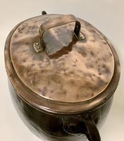 Large Antique Copper Cauldron with Lid (12 of 16)