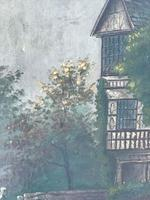 Edwardian Oil Painting Historical Tudor House Little Moreton Hall Congleton (5 of 12)