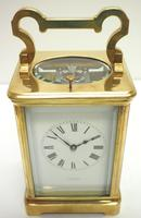 Good Antique French 8-day Repeat Carriage Clock Bevelled Case with Enamel Dial Gong Striking (12 of 15)