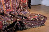 Large Mid 20th Century Colourful Flat Weave Woolen Rug (6 of 15)