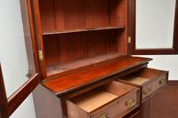 Antique Victorian Inlaid Mahogany 2 Section Bookcase (7 of 11)