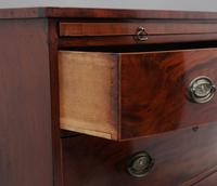 Early 19th Century Mahogany Bowfront Chest with Slide (10 of 12)