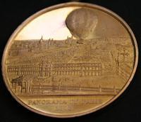 Commemorative Medal by Charles Trotin- Henri Giffard's Public Balloon Flights c.1878 (3 of 4)