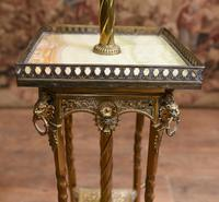 Antique Gilt French Floor Lamp Table (3 of 12)