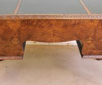 Quality Burr Walnut Kneehole Writing Desk (9 of 15)