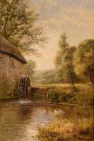 "Oil Painting by John Bonny ""Swans on the Water"" & ""Ducks on the Mill"" (3 of 8)"