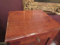 Antique Walnut Three Drawer Filing Cabinet c.1900 (7 of 9)
