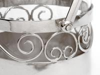 Edwardian Silver Plated Barrel or Box with a Plain Body and Glass Liner (4 of 5)
