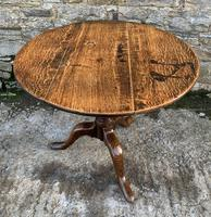 Large Georgian Oak Tilt Top Occasional Table (17 of 21)