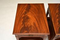 Pair of Antique Mahogany Side /  Bedside Tables (5 of 12)