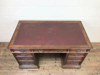 Antique Oak Pedestal Partners Desk (3 of 9)