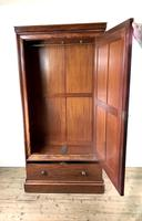 Large Victorian Single Door Mahogany Wardrobe with Mirror (10 of 11)