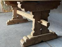 Rustic French Bleached Oak Farmhouse Dining Table (10 of 15)