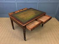 Victorian Mahogany 4 Drawer Partners Writing Table (12 of 13)