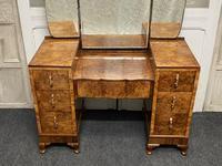 Stylish Art Deco Burr Walnut Dressing Table (3 of 20)