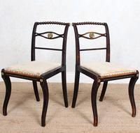 4 Regency Ebonised Dining Chairs Trafalgar (9 of 12)