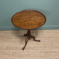 Stunning Georgian Mahogany Antique Tripod Table (6 of 6)