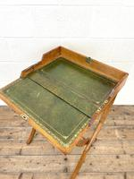 Antique Oak Folding Campaign Desk (3 of 10)