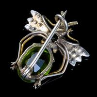 Antique Victorian Paste Pearl Insect Brooch Silver 18ct Gold Circa 1900 (3 of 5)