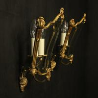 French Pair Of Gilded Bronze Half Lanterns (7 of 10)