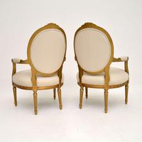 Pair of Antique French Giltwood Salon Chairs (4 of 11)