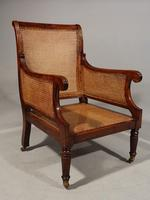 Very Fine Set of 4 Regency Period Mahogany Bergère Chairs (3 of 6)