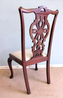 Antique Set of Six Antique Mahogany Chippendale Style Dining Chairs (4 of 9)