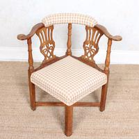 Georgian Corner Elbow Chair Beech (3 of 10)