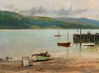 'The Lake District' Exceptional Vintage Seascape Oil On Canvas Painting c1960' (8 of 12)