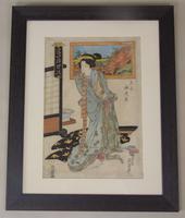 19th Century Japanese Woodblock Print Eisen