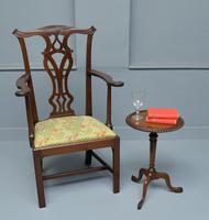 Elegant Chippendale Revival Mahogany Elbow Chair (9 of 13)