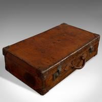 Antique Travel Suitcase, English, Leather, Gentleman's Case, Edwardian c.1910 (5 of 10)