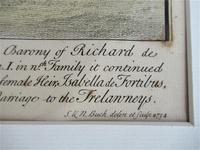 S & N Buck, Tiverton Castle, Devon, 1734, Early Copy Of Antique Print, Framed (5 of 7)