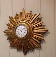 Sunburst Carved Giltwood Wall Clock (8 of 9)