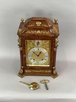 Fine Quality Burr Walnut Bracket / Mantel Clock by Lenzkirch (13 of 15)