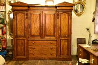 Antique William IV Mahogany 4 Door Wardrobe (3 of 5)