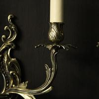 French Pair Of Twin Arm Antique Wall Lights (4 of 10)