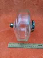 Antique Cut 12 Faceted Glass Oil Lamp Font / Fount Hicks & Sons Bayonet Collar (5 of 12)