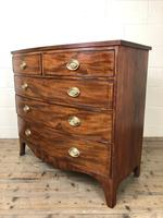 19th Century Mahogany Bow Front Chest of Drawers (5 of 18)