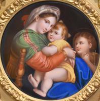 Porcelain Plaque of the Madonna Della Sedia by Raphael (6 of 9)