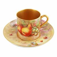 Royal Worcester Fruit Cup Saucer & Plate (4 of 9)