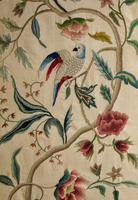 """Pretty 3 Fold Arch Screen decorated with """"Bird of Paradise"""" (3 of 5)"""